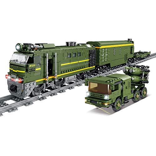 Adventskalender Zuggleis Set DIY Baustein Modell Lokomotive Zug...