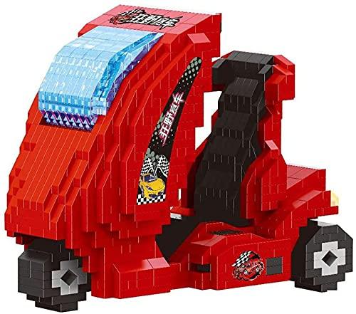 NXNX Micro Diamant Block Racing Modell Gebäude Ziegel Spielzeug...