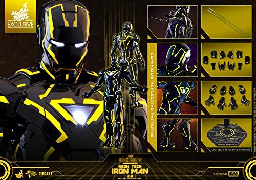Hot Toys Movie Masterpiece - Iron Man 2 - Mark VI (6) Neon Tech Suit Diecast 1/6 Sixth Scale...