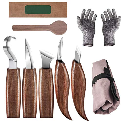 Bainuojia Holz-Schnitzwerkzeug Set, Holz Schnitzmesser mit...
