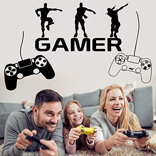2er Pack Gamer Wandtattoos mit Gamepad Aufkleber für Jungen...