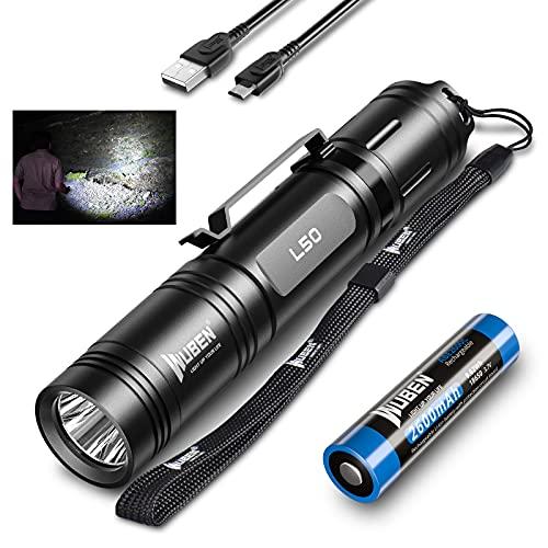 LED Taschenlampe 1200 Lumen USB Wiederaufladbare Tragbare Outdoor...