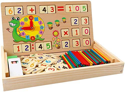 Babyhelen Montessori Mathe Spielzeug aus Holz Lernbox...