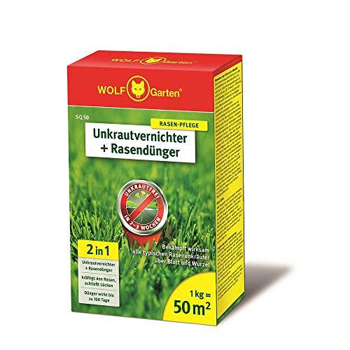 WOLF-Garten - 2-in-1: Unkrautvernichter plus Rasendünger SQ 50;...