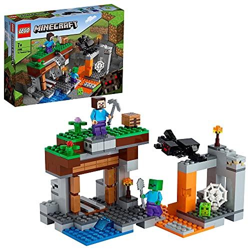 LEGO 21166 Minecraft Die verlassene Mine Bauset, Zombiehöhle mit...