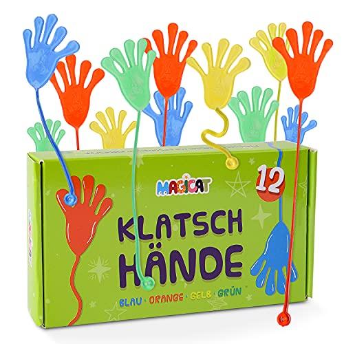 Magicat Premium Klatschhände Set, 12 klebrige Glibberhände I...