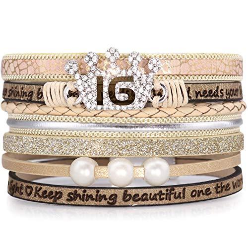 Suyi Sweet 16. Geburtstag Geschenke für Frauen Mädchen Leder...