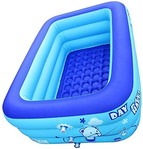 JQAM Aufblasbarer Pool Kinder Schwimmen Rechteckige Aufblasbare...