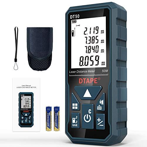 Entfernungsmesser, DTAPE DT50 50M Digitales Laser...