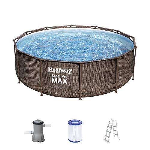 Bestway Steel Pro MAX Frame Pool, 366 x 100 cm, Komplett-Set mit...