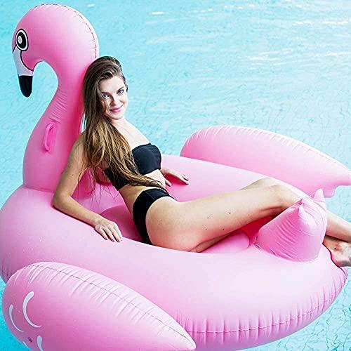 FYRMMD Schwimmring Luftbetten Pink Flamingo Halterungen Wasser...