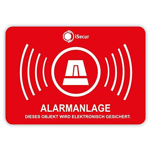 5er Aufkleber-Set Alarmanlage I hin_454 5x3,5cm I Achtung Objekt...  *