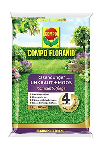 COMPO FLORANID Rasendünger gegen Unkraut+ Moos Komplett-Pflege,...