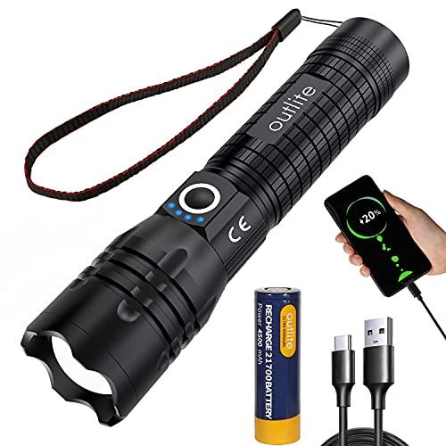 outlite Taschenlampe, Extrem Hell 10000 Lumen LED Taschenlampe...