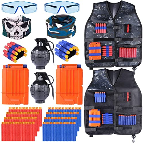 INNOCHEER Taktische Weste 2 Pack für Kinder, Taktische Jacke Kit...