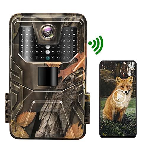 Hieha Wildkamera WLAN 30MP 4K mit App,Wildkamera...