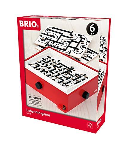 BRIO 34020 Labyrinth mit Übungsplatten, rot - Der schwedische...