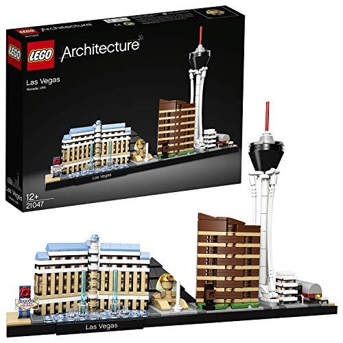 LEGO 21047 Architecture Las Vegas Bauset mit dem Stratosphere Tower, Bellagio Hotel...