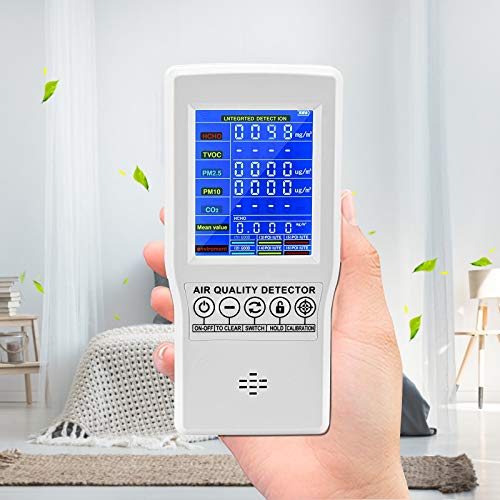 HUKOER Air Quality Monitor CO2/HCHO/TVOC/PM2.5/PM10 Tester,...