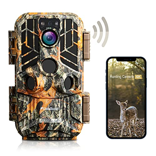 usogood Wildkamera WLAN 4k 30MP mit Bluetooth APP, Wildtierkamera...