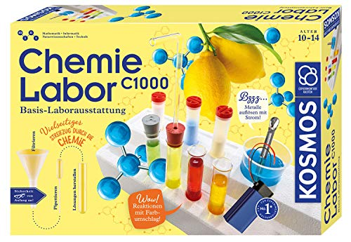 KOSMOS 642518 C1000 Chemielabor, BasisLaborausstattung, Chemie...
