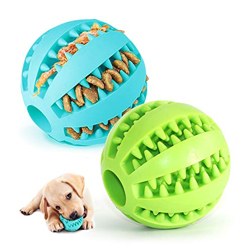 2 Hundespielzeug Ball,Naturgummi mit Minzgeschmack Hund Feeder...
