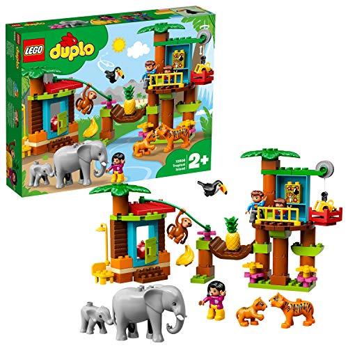 LEGO 10906 DUPLO Town Baumhaus im Dschungel Bauset, Lernspielzeug...