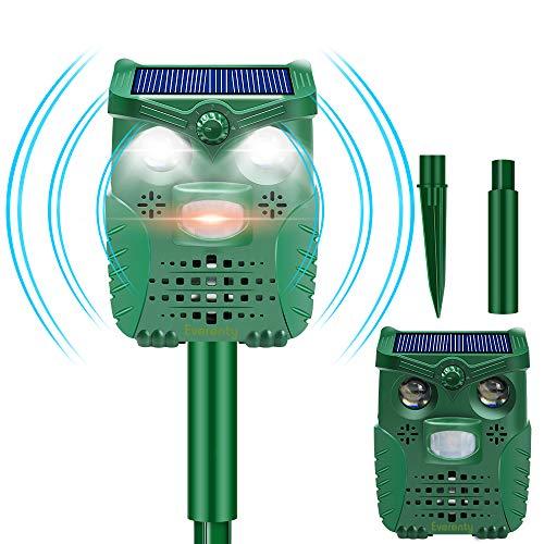 Everenty l-33 Katzenschreck Solar USB Powered IP66 Wasserdicht Ultraschall Tiervertreiber für...