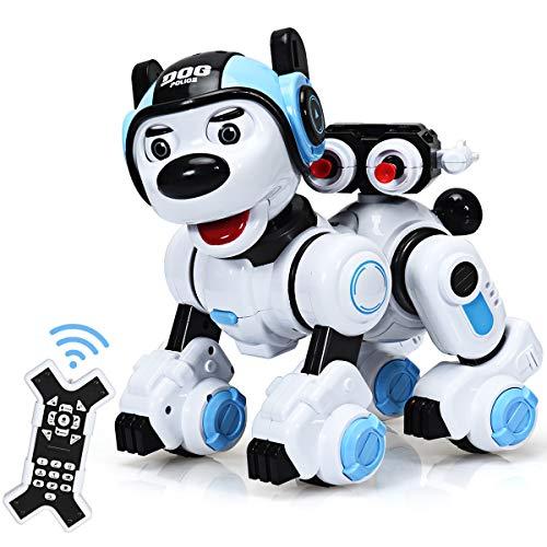 COSTWAY RC Interaktiv Roboter Hund mit Musik-, Tanz-, Blink- und...