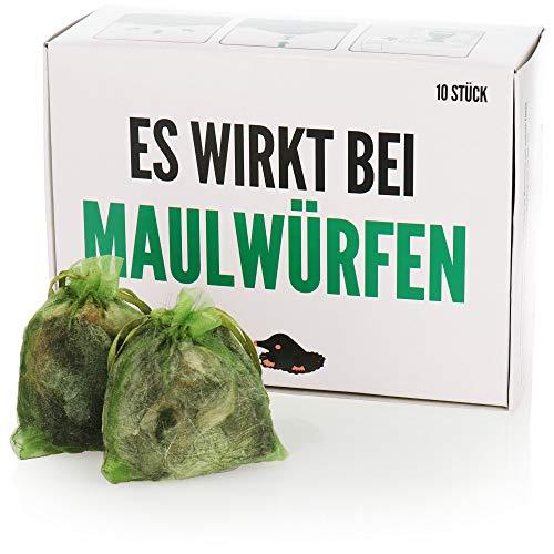com-four® 10x Wühlmausschreck, tierfreundliche Wühlmausabwehr,...