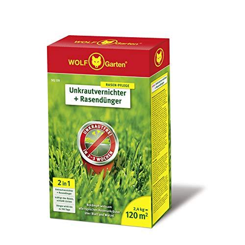 WOLF-Garten - 2-in-1: Unkrautvernichter plus Rasendünger SQ 120;...