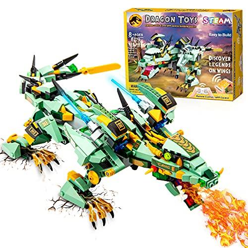 CIRO Dinosaurier Roboter Spielzeug Bausteine Programmierbarer...
