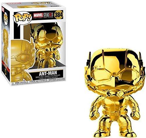 Funko Pop Ant-Man 384 Gold Chrom First Ten Years Marvel Figur...