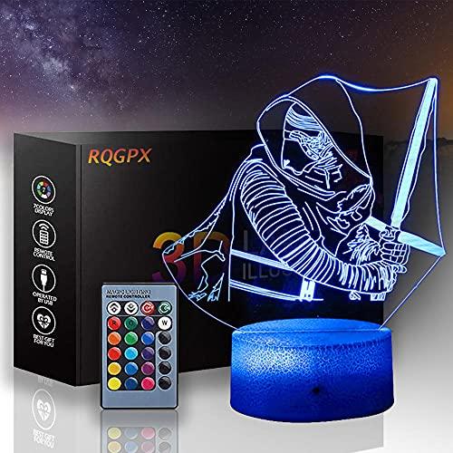 3D-Nachtlicht für Kinder, Star Wars 3D-Illusion neben...