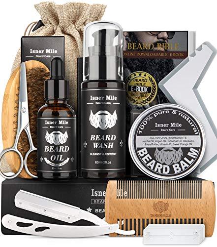 Aufgerüstet Bartpflege Set für Männer Bart Wachstum Pflege &...