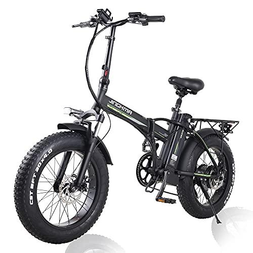 20 Zoll Faltbares Elektrofahrrad Fettreifen E-Bike 48V 800W Motor...