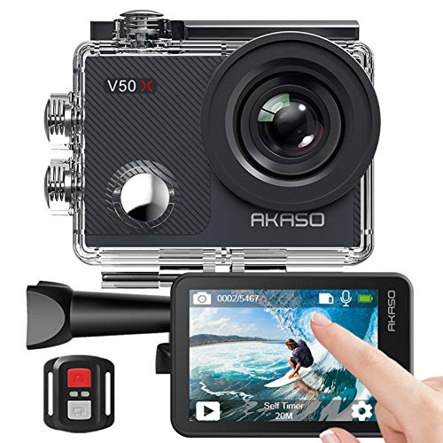AKASO Action cam/Unterwasserkamera 4K WiFi 40M EIS Anti-Shake...