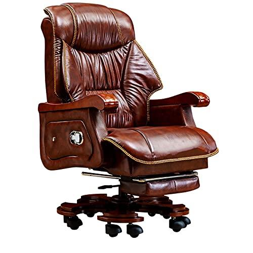 Bürostuhl Chefsessel, Chefsessel aus Leder, ergonomischer Stuhl...