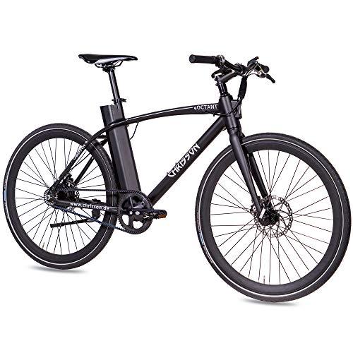 CHRISSON 28 Zoll E-Bike mit Riemenantrieb eOCTANT schwarz matt - Elektrofahrrad City Bike mit...