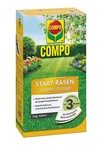 COMPO Start-Rasen Langzeit-Dünger, Für junge Rasenpflanzen und...