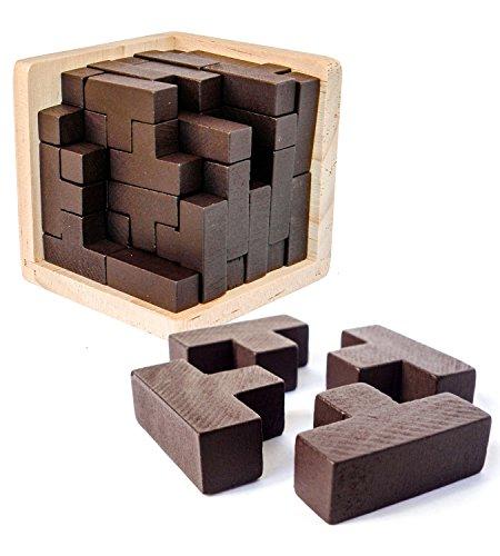 3D Denksport-Puzzle aus Holz von Sharp Brain Zone. Erzieherisches...