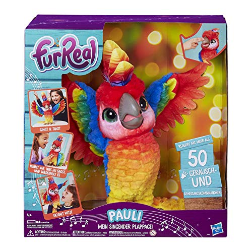 Hasbro FurReal Pauli – mein singender Plappagei, interaktives...