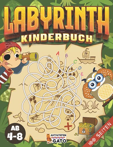Labyrinth buch ab 4: Labyrinth rätsel für kinder ab 4-8 jahre |...