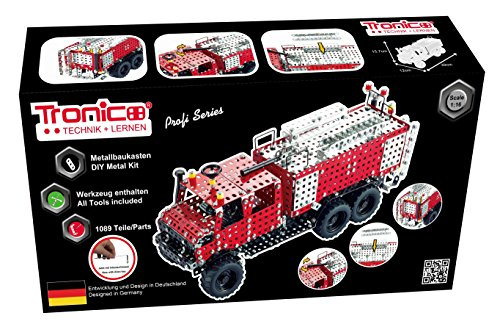 TRONICO Metallbaukasten Feuerwehr Unimog LKW...