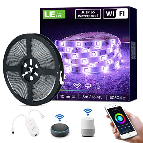 LE Smart LED Strip 5M, RGB LED Streifen Wifi, IP65 Wasserdicht...