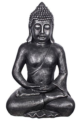 Willken Arts Buddha B4001 Antiksilber, für Innen und Außen,...