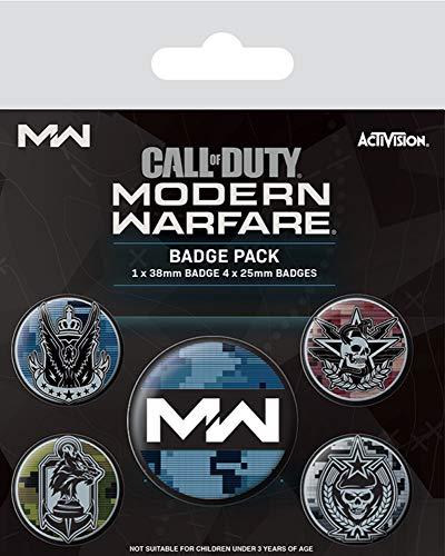 Call of Duty Modern Warfare Fractions - 5 Ansteck Buttons -...