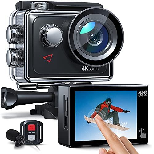 AC920 Action cam Touchscreen-Actionkamera 4K 60FPS mit 8-fachem...