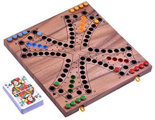 LOGOPLAY Tock für 4 Spieler - Gesellschaftsspiel mit Spielkarten...