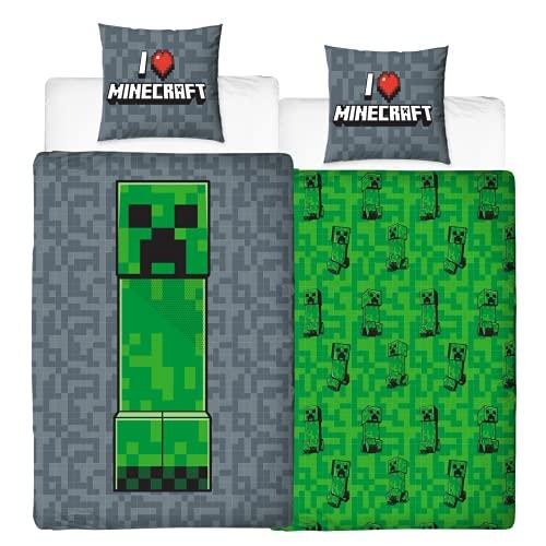 Character World Bettwäsche Minecraft 135x200 + 80x80 · 2 teilig...